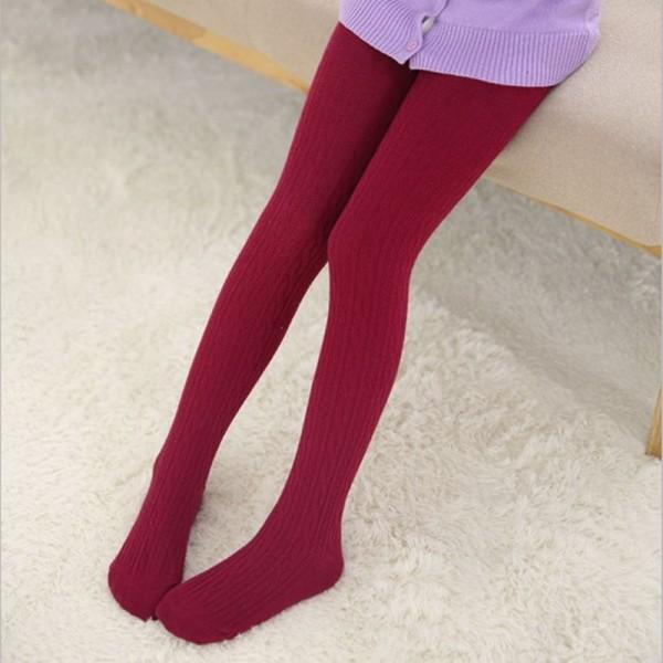 Trendy Knitted Solid Tights for Toddler Girl and Girl