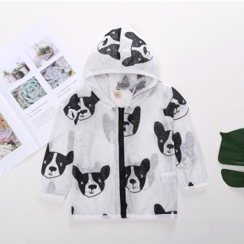 Fashionable Doggy Print Long-sleeve Sunproof Jacket for Toddler Boys and Boys