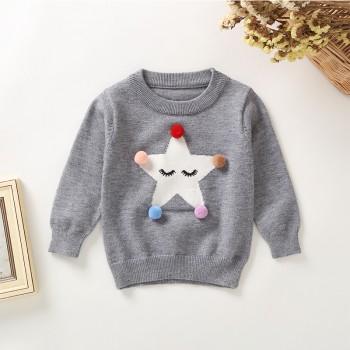 Lovely Star Design Long-sleeve Sweater for Baby Girl
