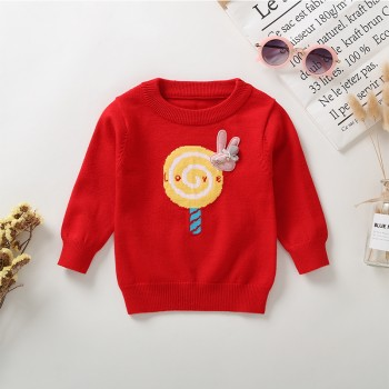 Fresh Lollipop Design Long-sleeve Sweater fro Baby Girl
