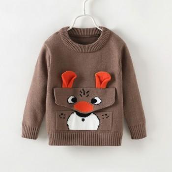 Stylish Animal Design Long-sleeve Sweater