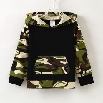Stylish Camouflage Design Long-sleeve Hoodie