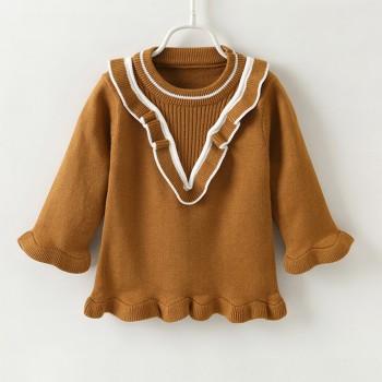 Sweet Ruffled Long-sleeve Sweater