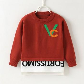 Stylish Letter Design Long-sleeve Sweater