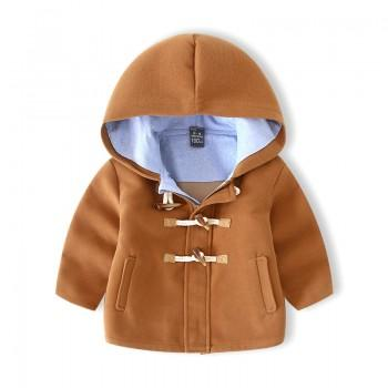 Fashionable Button Hooded Coat for Toddler Boy and Boy