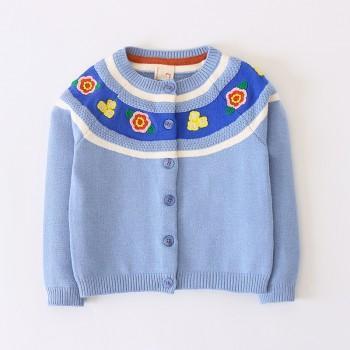 Pretty Flower Pattern Design Sweater for Toddler Girl and Girl