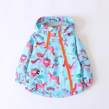 Cute Unicorn Pattern Fleeced Hooded Jacket for Toddler Boy and Boy