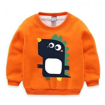 Cute Baby Dinosaur Fleece Lined Pullover for Toddler and Kid