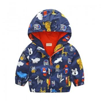 Cute Animal Print Hooded Coat for Baby Boy and Boy