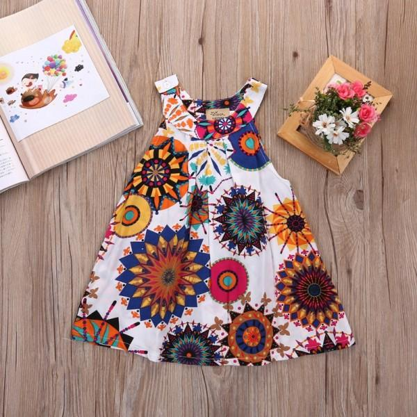 Vibrant Floral Slip Dress for Baby and Toddler Girl