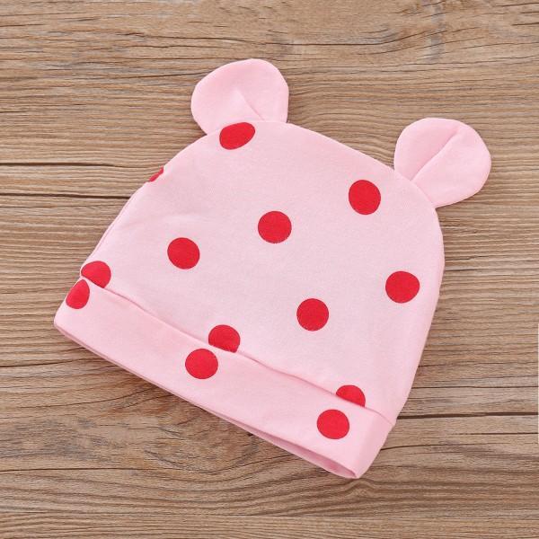 3-piece Cute Giraffe Print Romper, Polka Dot Pants and Hat Set for Baby Girl