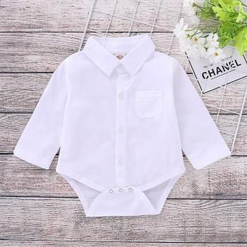 Formal Polo Collar Blouse Long-sleeve Bodysuit for Baby