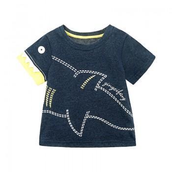 Trendy Shark Print Short-sleeve T-shirt for Toddler Boy