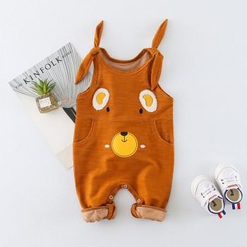 Cute Bear Design Sleeveless Jumpsuit for Baby