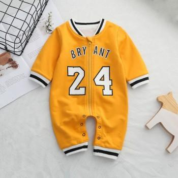 Fashion Number Print Long Sleeves Jumpsuit for Baby Boy