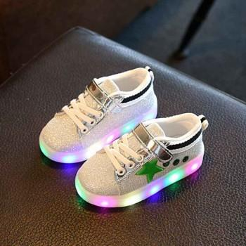 Baby and Toddler's Stylish Glitter LED Shoes