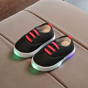 Baby and Toddler's Solid LED Canvas Shoes