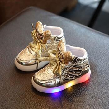 Baby and Toddler's Cool Glitter LED Shoes