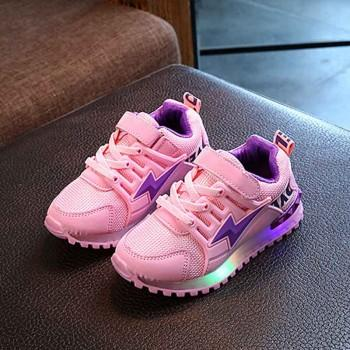 Sporty LED Velcro Shoes for Kid