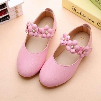 Sweet Floral Decor Leather Flats for Toddler Girl and Girl
