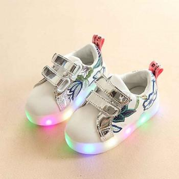Pretty Floral LED Shoes for Toddler and Kid