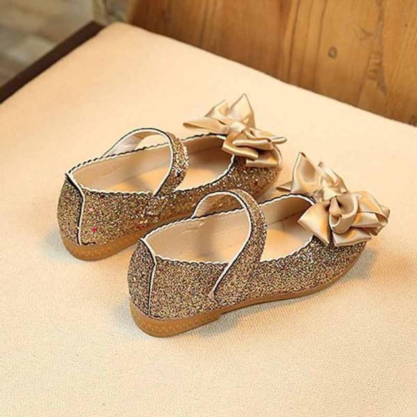 Charming Bowknot Decor Glitter Flats for Girls