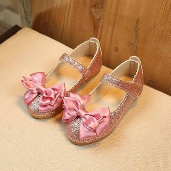 Charming Bowknot Decor Glitter Flats for Girls