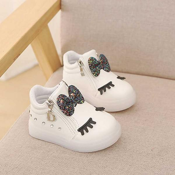 Cute Bow and Rhinestone Decor LED Board Shoes for Toddler Girl and Girl