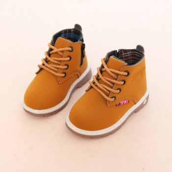 Trendy Solid Lace-up Martin Shoes for Toddler and Kid