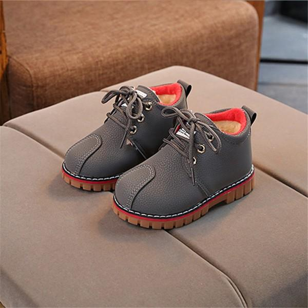 Trendy Solid Round Head Lace-up Martin Boots