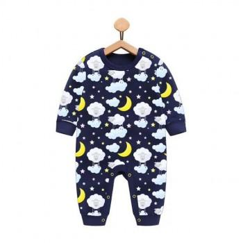 Super Cute Sheep and Cloud Long-sleeve Jumpsuit for Baby