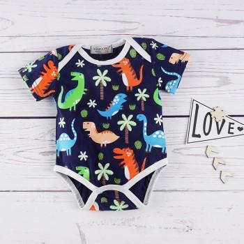 Lovely Dinosaur Print Bodysuit for Baby