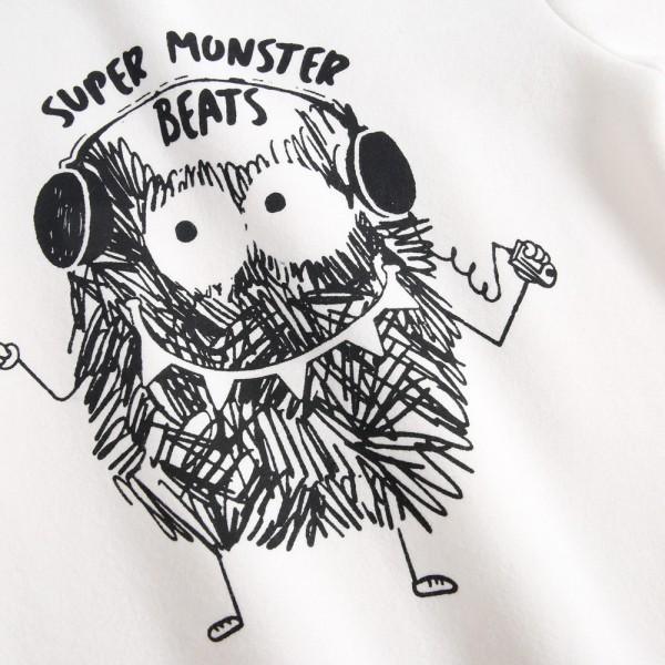 Unique Monster Print Fleece Lining Sweatshirt for Kid
