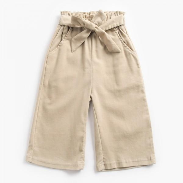 Suitable Corduroy Loose Cropped Pants for Baby and Toddler Girl