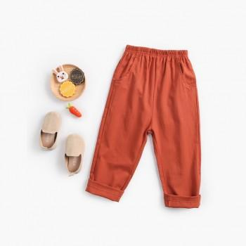 Casual Back Applique Solid Pants for Baby and Toddler