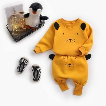 2-piece Super Cute Lion Design Long-sleeve Top and Pants Set for Baby