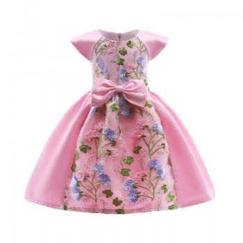 Unique Vintage Floral Embroidery A-line Party Dress for Girls