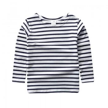 Casual Stripes Long-sleeve Pullover for Toddler/Baby