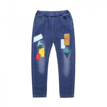 Trendy Stitching Print Jeans for Baby and Kid