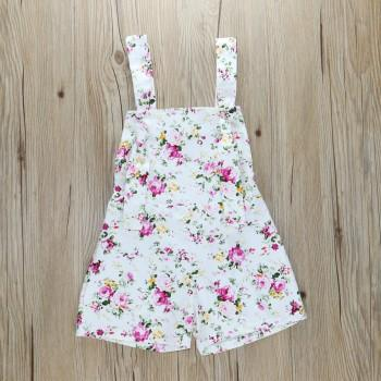 Trendy Floral Overalls for Toddler Girl