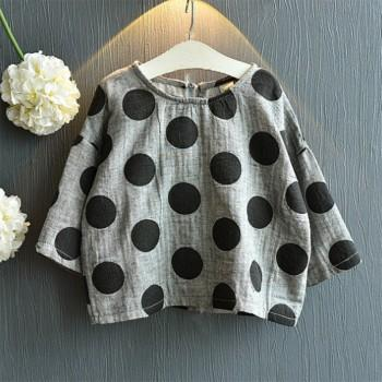 Trendy Polka Dotted Top for Toddler Girl and Girl