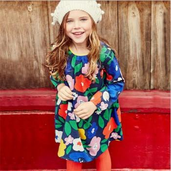 Sassy Floral Long-sleeve Dress for Toddler Girl and Girl