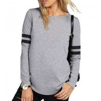 Women Stylish Stripes Contrast Pullover