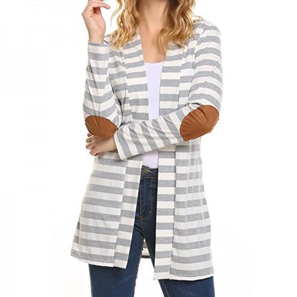 Trendy Striped Long-sleeve Cardigan