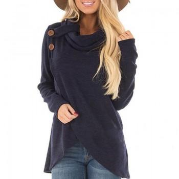 Modish Asymmetric Long-sleeve Pullover