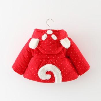 Lovely Ear Hooded Coat for Baby