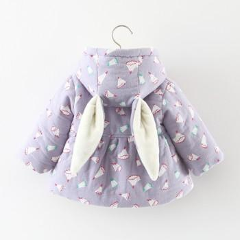 Fashionable Hooded Rabbit Design Coat for Baby
