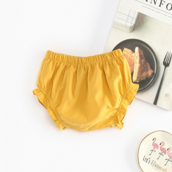 Baby Girl's Solid PP Shorts