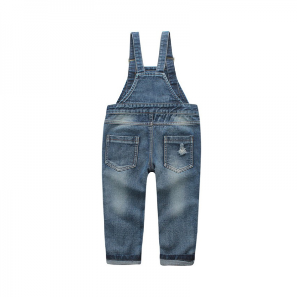 Fashionable Ripped Suspender Jeans for Toddler and Kid