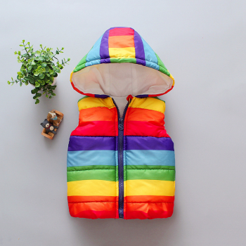 Stylish Striped Hooded Vest for Baby